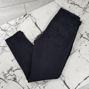 Rock & Republic Black Fever Crop Skinny Jeans 6